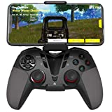 Delta essentials Bluetooth Wireless Mobile Game Controller for iOS/Android OS/PS3/PC Windows, Gamepad for Mobile Gaming Support Keymapping Black (Color: Black)