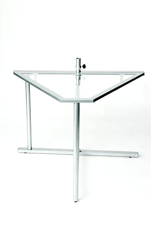 My Balconia Tavolo da Balcone Pieghevole Tri-Table, Grigio, 74 x 100 x 75 cm