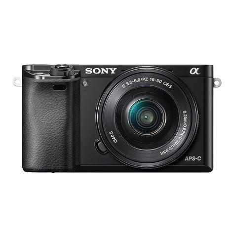 """Sony A6000 ILCE6000LB.CEC Kit Compact numérique hybride 3"""" (7,62 cm) 24,3 Mpix Zoom optique 3x Wi-Fi/HDMI/USB Noir + Objectif 16-50 mm rétractable"""
