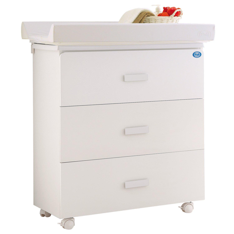 Pali Bade Wickelkombination – Wickeltisch mit Baby Badewanne Zoom Weiß kaufen