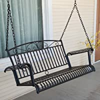 International Caravan Tropico Wrought Iron 4-ft. Porch Swing