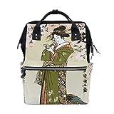 Ukiyoe Ukiyo-E Print Japanese Art Mommy Bags Mother Bag Travel Backpack Diaper Bag Daypack Nappy Bags for Baby Care (Color: Multi, Tamaño: OneSize)