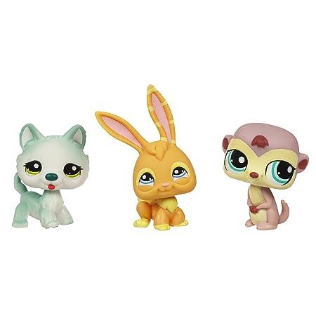Littlest Pet Shop Pets 3-Pack - Husky/Meerkat/Bunny