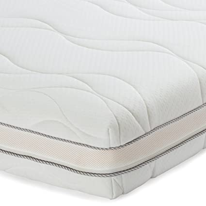 AmazonBasics - Materasso francese extra comfort in memory foam a 7 zone, 160 x 190 cm