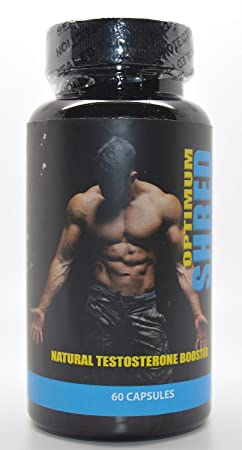 Optimum Shred Naturliche Testosteron Booster Gym und Muskel Supplement 60 Kapseln