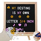 Letter Board - 10'' x 10'' Black Felt Letter Board with Pre Cut 600 Letters Accessories, Business Message Board, Photo Clippers, Mounting Hook Canvas Bag +Cute Scissors 084 (Color: 10x10 Support, Tamaño: 10 inch)