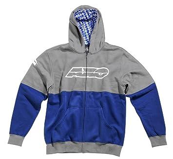 AXO FT5T0148-GB Sweatshirt Racing JR, Taille M, Gris/Bleu