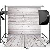 WOLADA 5x7ft Grey Wood Wall & Floor Vinyl Fabric Photography Backdrop Customized Studio Background Studio Props 10924 (Color: 10924 5x7, Tamaño: 5x7ft)