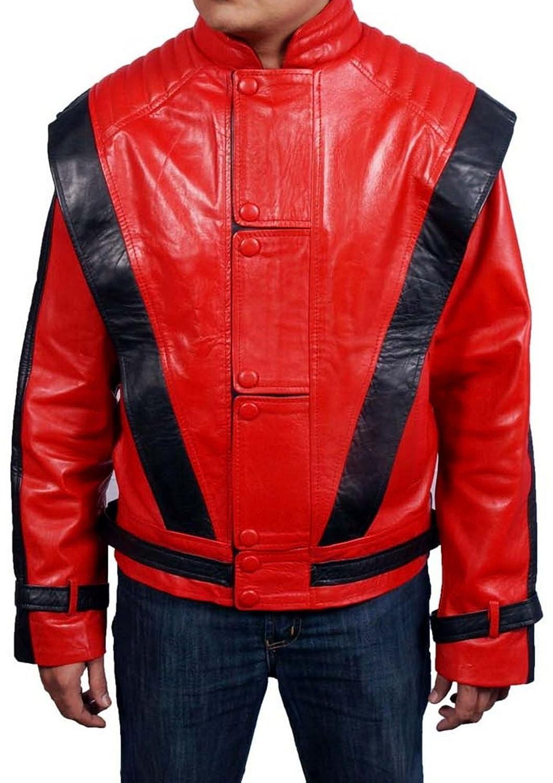 Men's Thriller Sheep Red Leather Jacket jetzt bestellen