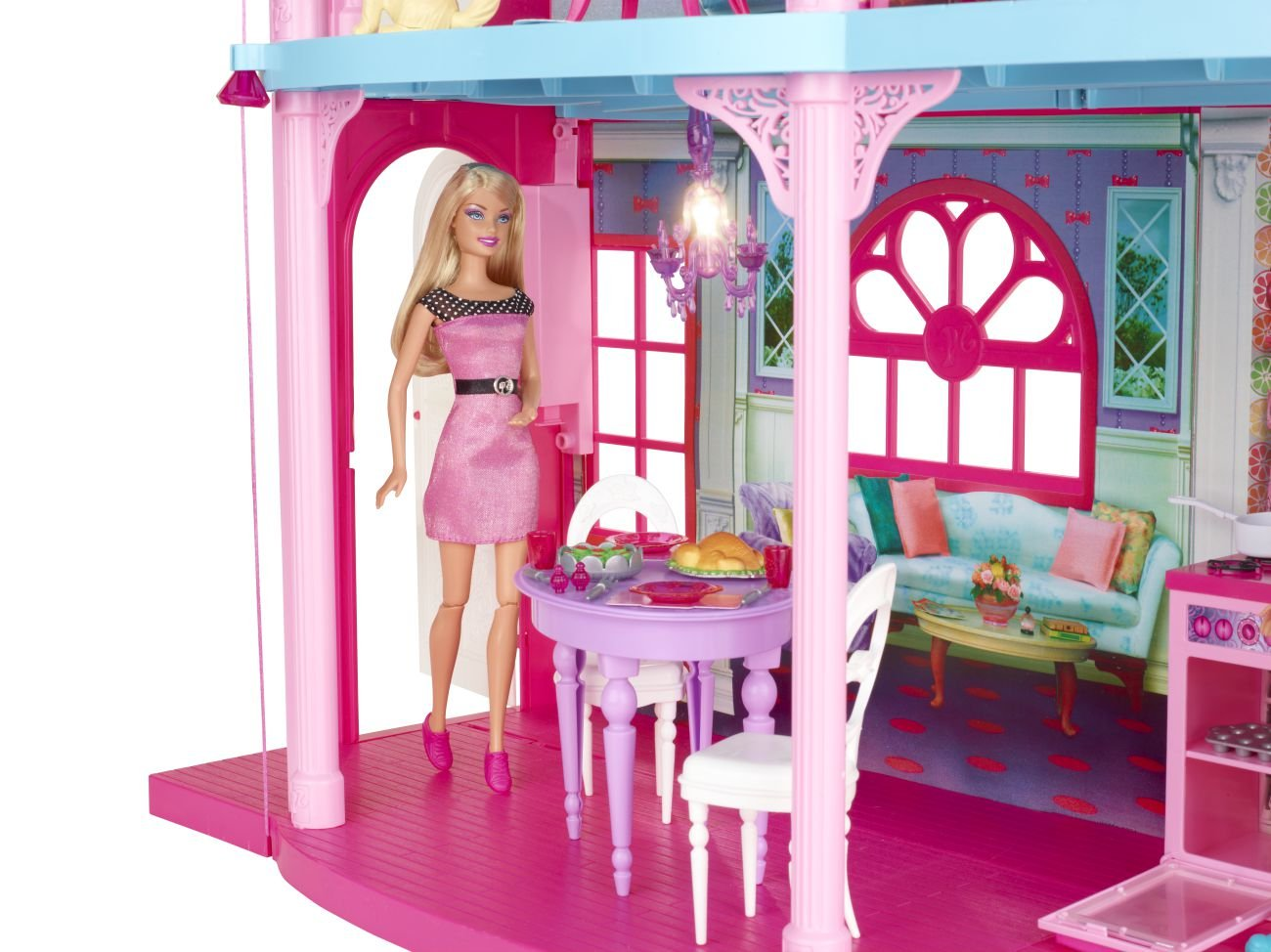 Mattel Barbie Doll Pink 3-Story Dream Townhouse TOWN HOME ...