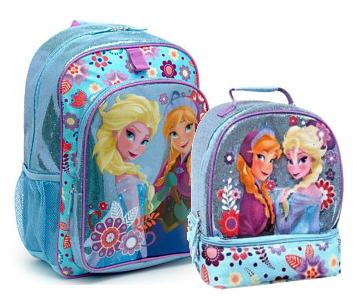 Disney Store Frozen Girls Backpack and Lunch Box Set