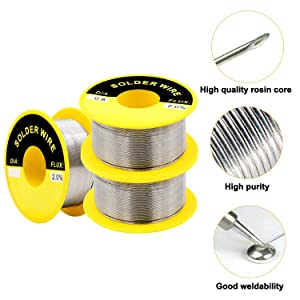 AxPower 63-37 Tin Lead Rosin Core Solder Wire for Electrical Soldering 50g Diameter 0.5mm 0.6mm 0.8mm 1.0mm 1.2mm (5 PCS) (Tamaño: Mix)