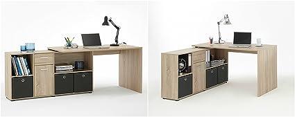 Mesa para ordenador de oficina mesa para esquina tamaño grande muebles armario moderno PC Home estantería compartimento