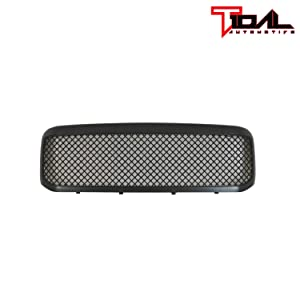 Tidal Replacement F250 Grille Mesh Front Black ABS Upper Grill for 99-04 Ford F250//F350//F450 Super Duty