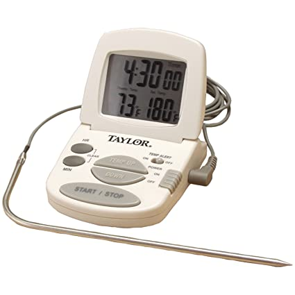 Amazon.com: Taylor Precision Products Digital Cooking Thermometer/Timer: Instant Read Thermometers: Kitchen & Dining