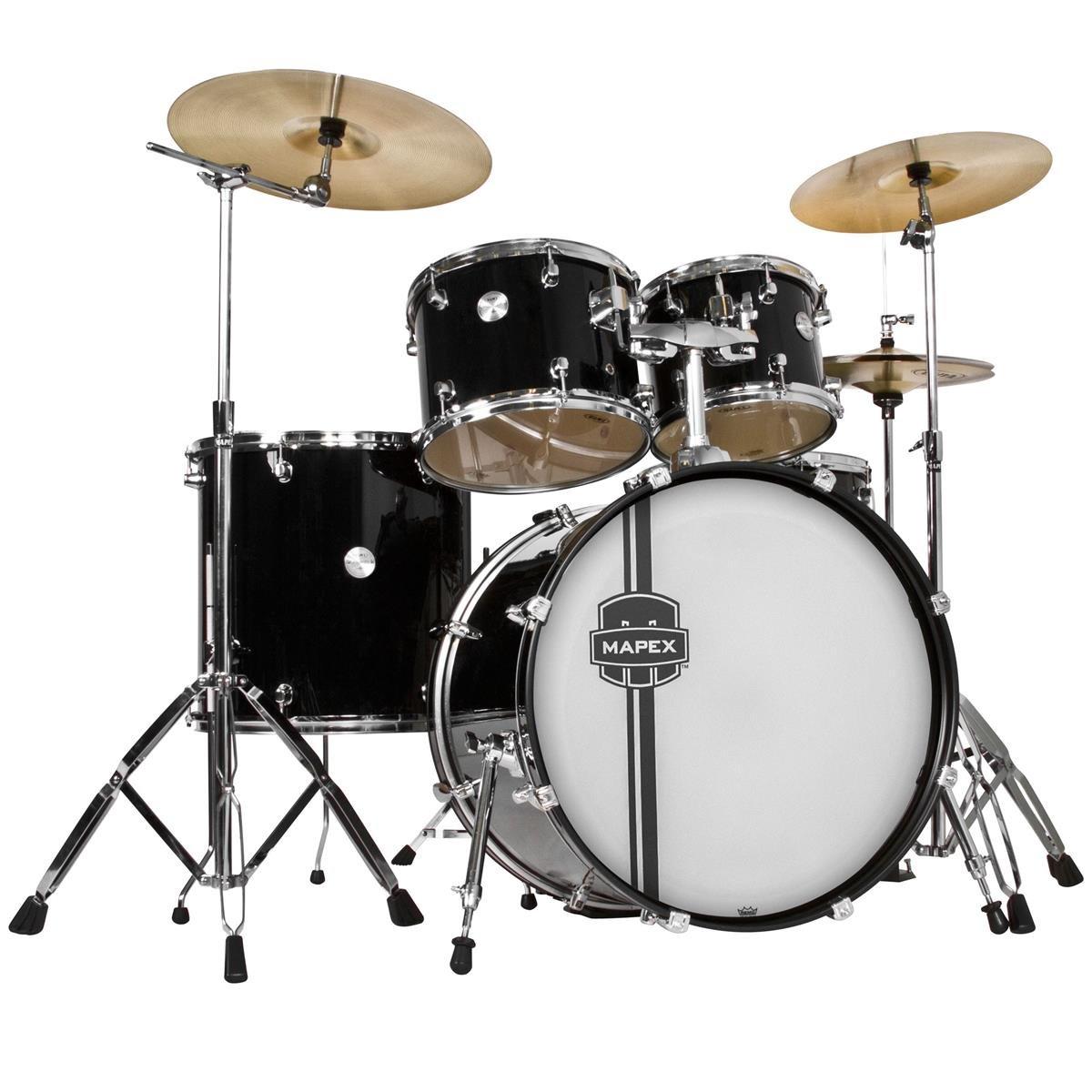Black Cymbal Set Set With Cymbals Black