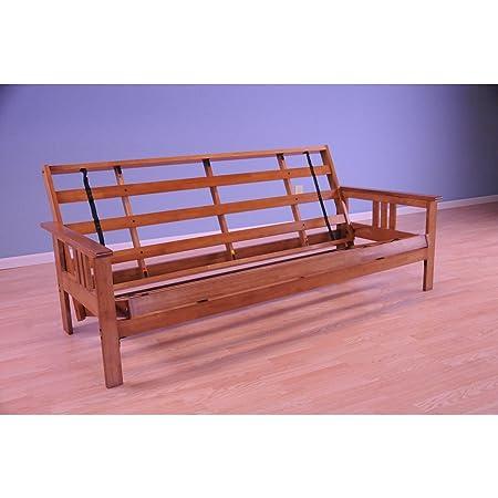 Somette Beli Mont Multi-flex Honey Oak Wood Futon Frame Bed