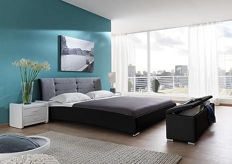 SAM® Design Polsterbett Bebop 200 x 200 cm in schwarz grau