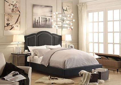 Millbury Home Belita Charcoal Gray Upholstery Platform Bed