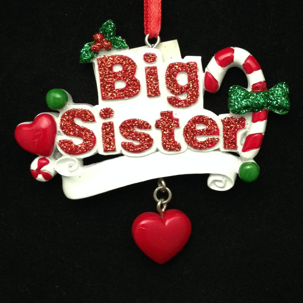 Big Sister Banner Christmas Ornament
