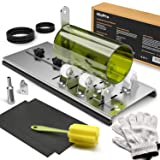 Nicpro Glass Bottler Cutter Kit,DIY Cutting Machine Tool for Wine/Beer/Whiskey Bottles with Gloves Fixing Ring