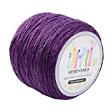 Pandahall 1 Roll(100m, About 100 Yards) Purple Colored Jute Twine Jute String for Jewelry Making Craft Project, 2mm (Color: Purple, Tamaño: 2mm-3Ply)