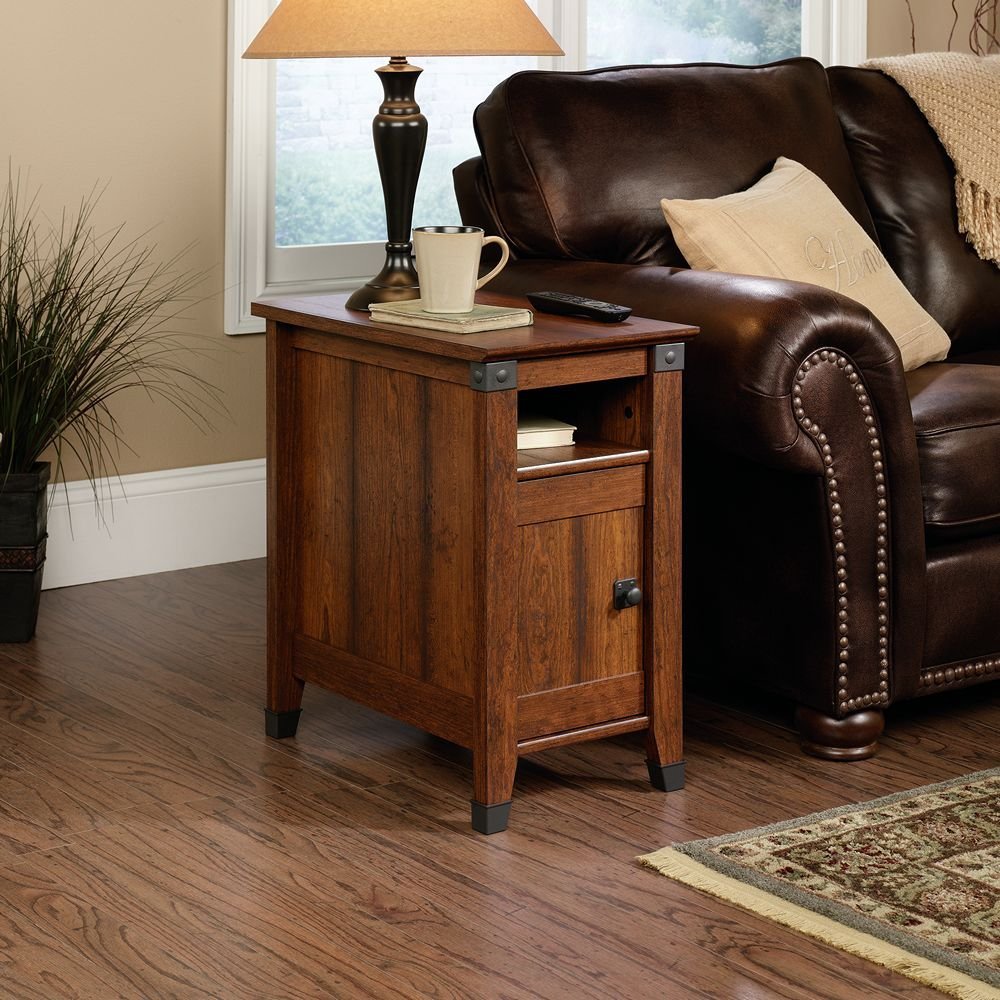 Sauder Carson Forge End Table, Washington Cherry Finish