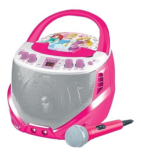 LEXIBOOK- K7000DP - Lecteur CD avec Micro Disney Princess