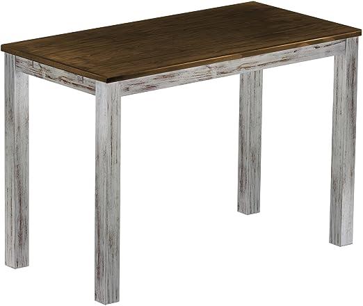 Brasil Meubles haut 'Rio Table Classico' 160x 80cm, Pin massif, coloris Shabby LH–Chêne antique