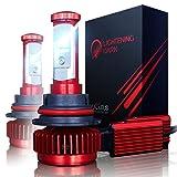 LIGHTENING DARK 9004 LED Headlight Bulbs Conversion Kit (Hi/Low), CREE XPL 6K Cool White,7200 Lumen