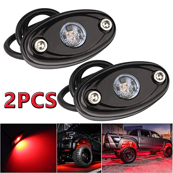 Pack of 20,Red LEDMIRCY LED Rock Lights Red 20PCS Kit for Off Road Truck RZR ATV SUV Car Auto Boat High Power Neon Trail Rig Lights Waterproof Shockproof