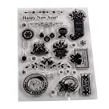 5 Sheets Silicone Clear Stamps Sea for lCards Making DIY Scrapbooking Photo Card,Christmas Theme,Bell (Color: Style 7)