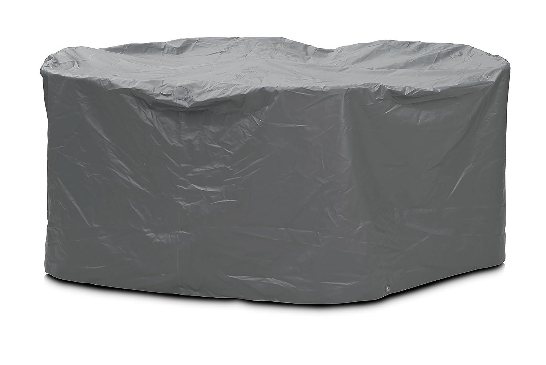 Eigbrecht 140240 Robusta Abdeckhaube Schutzhülle mit Abhang für Sitzgruppe grau rund Ø 215x90cm kaufen