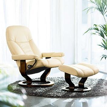 stressless consul relaxsessel mit hocker cream medium db808. Black Bedroom Furniture Sets. Home Design Ideas