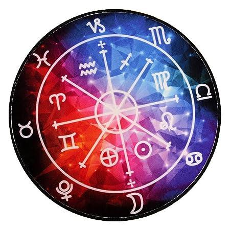 Salón de la personalidad creativa Mesa de centro Dormitorio Sofá Alfombra de la constelación redonda ( Tamaño : 180*180 cm (70.86*70.86 in) )