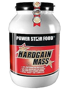 HARDGAIN MASS WEIGHT GAINER, Dose à 2000 g mit Meßlöffel, Mehrkomponenten-Protein mit Hi-Mol Kohlenhydrat-Hydrolysat plus BCAA fur Hardgainer die schwer zunehmen. Geschmack: Erdbeer