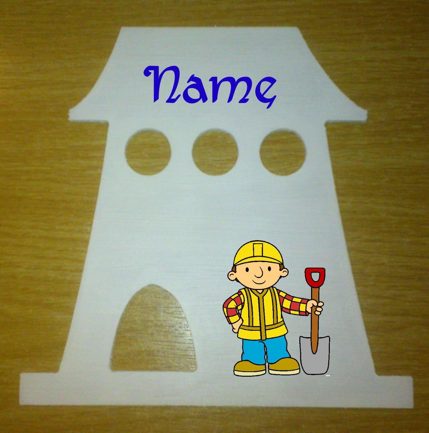 Bob der Baumeister Dekoschild Häuschen mit persönlichem Namen günstig bestellen