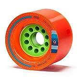 Orangatang Kegel 80 mm 80a Downhill Longboard Skateboard Cruising Wheels (Orange, Set of 4) (Color: Orange, 80a, Tamaño: w/o bearings)