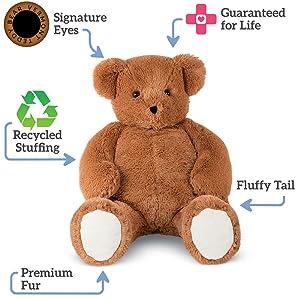 Vermont Teddy Bear Huge Teddy Bear - Large Teddy Bears Stuffed Animals, 3 1/2 Foot, Cuddle (Tamaño: 3.5 foot bear)
