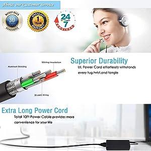 UL Listed AC Charger for Asus VivoBook Q301 Q301L Q301LA Q301LA-BSI5T17 Q301LA-BHI5TO2 Laptop Power Supply Adapter Cord (Tamaño: Q301LA)
