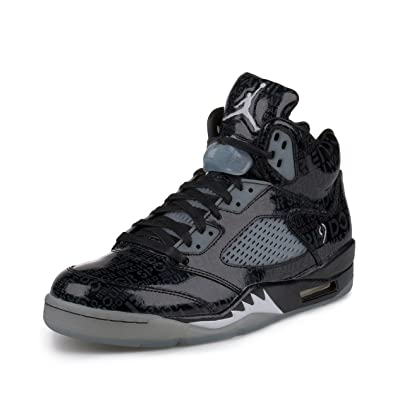 Amazon.com: Nike Mens Air Jordan 5 Retro DB \u0026quot;Doernbecher\u0026quot; Black/White-Black Leather Size 8: Shoes