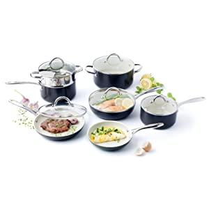 GreenPan Lima 12 Piece Hard Anodized Non-Stick Dishwasher Safe Ceramic Cookware Set review
