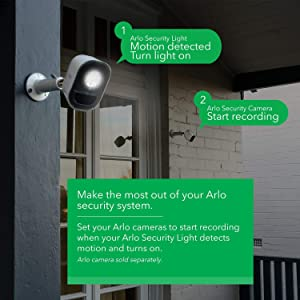 Arlo Lights - Smart Home Security Light | Wireless, Weather Resistant, Motion Sensor, Indoor/Outdoor, Multi-Colored LED| 3 Light Kit w/Bonus Battery (ALS1103C) Camera not Included (Color: White, Tamaño: 3 Light Kit w/ Bonus Battery)