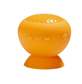【国内正規品】フリーコム Freecom Tough Speaker  ピタッと吸着 お風呂で使える ワイヤレスブルートゥーススピーカー  オレンジ 37181
