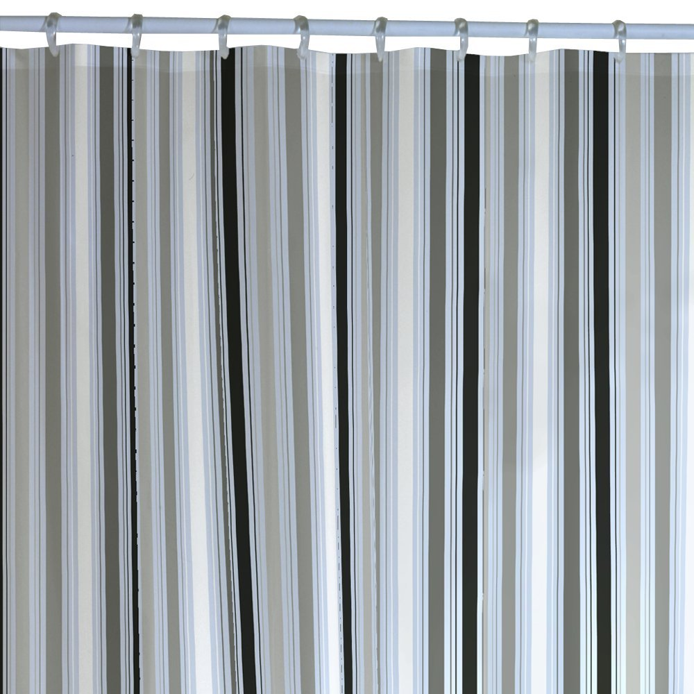 fabric shower curtain. shop with confidence.. Striped shower curtains ...