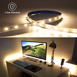 HitLights Luma5 Series (SMD 3528) Warm White LED Light Strip, 300 LEDs, 5 Meters (16.4 Feet) Spool, 12VDC Input (Adapter not included)