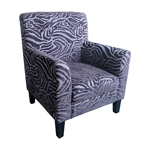 Protege Homeware Textured Animal Print Purple Luxe Chair