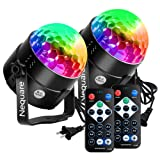 [Latest 6 Light Bulbs] Party Lights Disco Ball Strobe Light Disco Lights 20 Colors Sound Activated Stage Light with Remote Control for Kids, Festival Celebration Birthday Xmas Wedding Bar Club Party (Color: Black, Tamaño: 2 PACK-6 bulbs)
