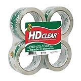 Duck HD Clear Heavy Duty Packaging Tape Refill, 4 Rolls, 1.88 Inch x 54.6 Yard, (240378)
