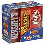 HERSHEY'S Chocolate Candy Bar Variety Pack (Hershey's, Reese's, Kit Kat) 18 Count (Tamaño: 18 Count)